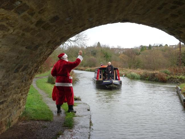 Santa on the Canals